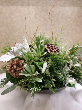 Natures Winter Table Table Centerpiece