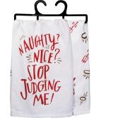 Naughty/Nice Christmas Dish Towel
