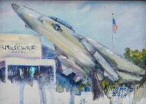 Naval Air Museum Original Oil by Nina Fritz