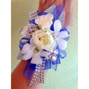 Navy Chic Corsage