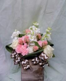 Neapolitan Bouquet Cube Arrangement