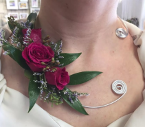Necklace of Flowers Prom Necklace