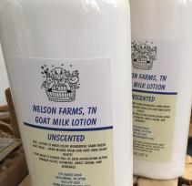 Nelson Farms Goats Milk Lotion 8oz. unscented or seasonal fragrance