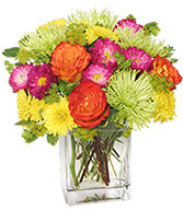 Neon Splash Bouquet in Rock Island, Illinois | LAMPS FLOWER SHOP