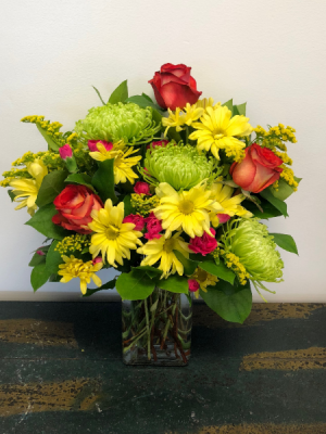 Neon Splash Vase Arrangement in Bluffton, SC | BERKELEY FLOWERS & GIFTS