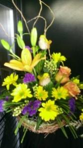 Nested Floral Spring Basket