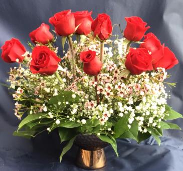 Never ending love vase arrangement