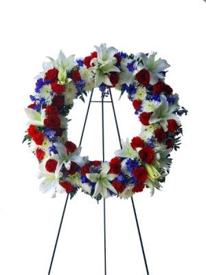 Never Forgotten Sympathy Wreath  in Miami, FL | FLOWERTOPIA
