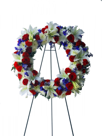 Never Forgotten Sympathy Wreath