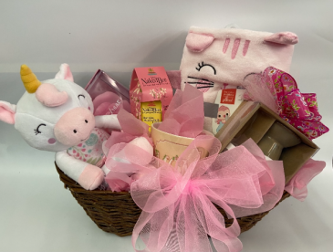 New Baby and Mom gift basket Baby Girl