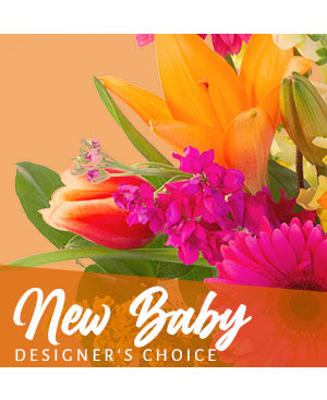 New Baby Bouquet Designer's Choice in Macon, GA | PETALS, FLOWERS & MORE