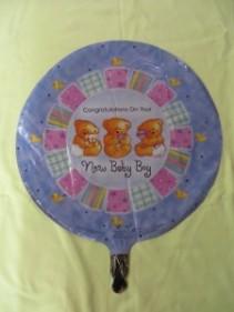 New Baby Boy Balloon 3 Mylar Balloon
