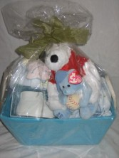 NEW BABY  BOY BASKET