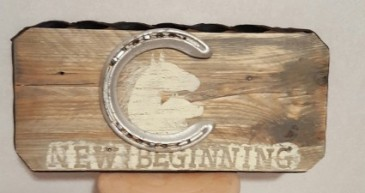 New Beginnings Plaque Reclaimed wood