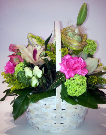 New Beginnings Spring Basket Arrangement