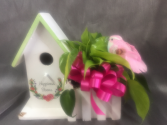 New! Birdhouse Planter