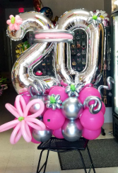 New Chrome Exclusive Balloon Bouquet  Standing Balloon Bouquet
