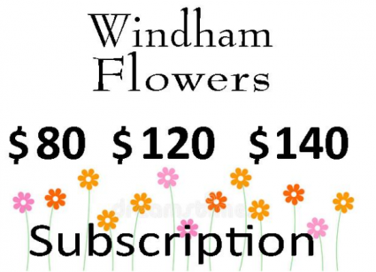 New!  Four Week Flower Subscription Standing Order