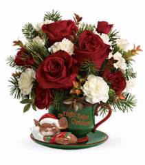 Night Before Christmas Mouse Teacup Arrangement
