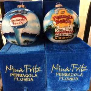 Nina Fritz 2020 Christmas Ornament  in Pensacola, FL | JUST JUDY'S FLOWERS, LOCAL ART & GIFTS