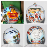 """Nina Fritz ornament """"Bands on the Beach"""" Same day delivery only on local delivery."""
