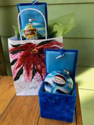 Nina Fritz Package 2020 Ornament  in Pensacola, FL | JUST JUDY'S FLOWERS, LOCAL ART & GIFTS