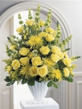 Funeral Flowers in Bright Yellows