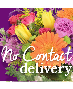 No Contact Delivery Designers Choice Bouquet in Oxford, MA | Ladybug Florist