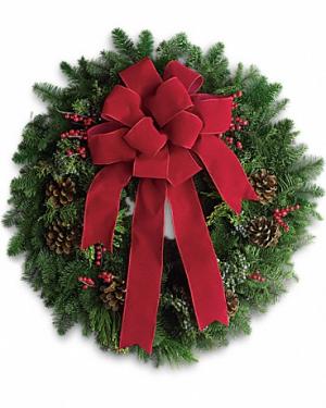 Noel Christmas Fresh Wreath in Magnolia, TX | ANTIQUE ROSE FLORIST