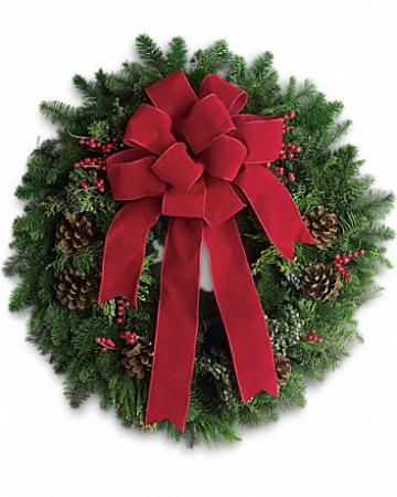 Fresh Noel- Lovely Christmas Greens Wreath  Fresh Wreath For Front Doors, Mailbox,Cemetery or Cars