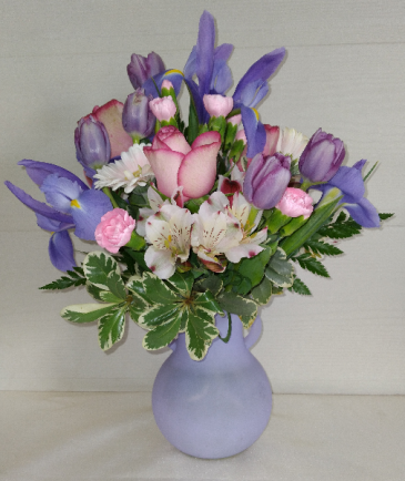 Nora Vase with Mixed Flowers