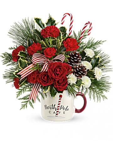 North pole cafe' mug  centerpiece collectable