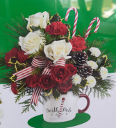 North Pole Cafe Table Centerpiece