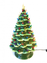 Nostalgic Ceramic Christmas Tree 18 inch $80.00