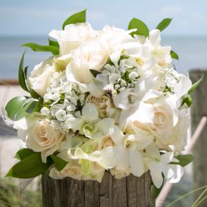 Not So Traditional White Wedding Bouquet Wedding Bouquet in Key West, FL | Petals & Vines
