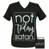 Not today Satan Girlie Girl V-neck