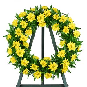 Nothing but Sunshine Sympathy Wreath in Bowman, SC | Seven Flowers Florist