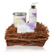 Nourishing Lavender Basket Gift Basket