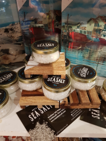 """""""N.S. SEA SALT"""" $15 From our ocean to your table."""