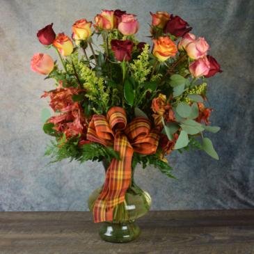 November Double Dozen Roses