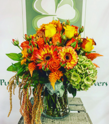 November Mood Fall Vase Arrangement