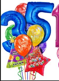 Numbered Birthday Bouquet Balloons