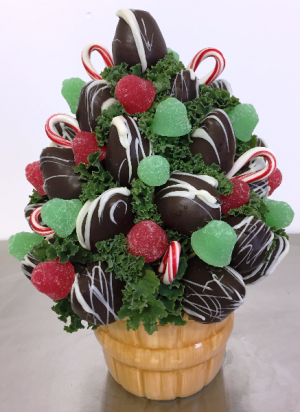 O' Christmas Tree Edible Bouquet in Springfield, IL | FLOWERS BY MARY LOU INC