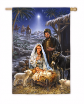 O' Holy Night Garden Flag