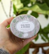 Oak Moss & Myrrh Travel Tin Candle