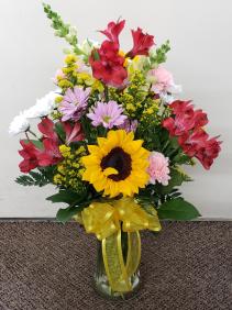 O'Beautiful Day Vase Arrangement  Fresh Flower Vase