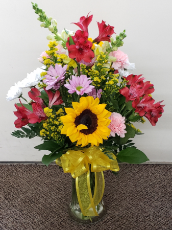 O Beautiful Day Vase Arrangement Fresh Flower Vase In Elkton Md Fair Hill Florist