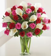 Everlasting Love (2 Day Advance) Roses and Calla Lillies