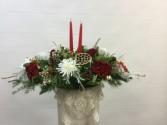 Oblong Centerpiece W/ Permanent Flowers