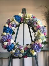 Ocean Blue Standing Wreath